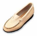 Champagne Deerskin Minnetonka Mocassins For Women