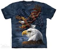 Eagle Flag Collage Patriotic T-Shirt