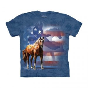 The Mountain Wild Star Horse Adult T-Shirt
