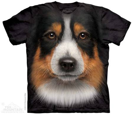 Australian Shepherd Face Adult T-Shirt