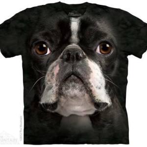 Boston Terrier Face Adult T-Shirt