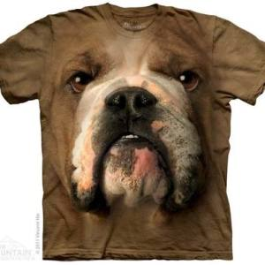 Bulldog Face Adult T-Shirt