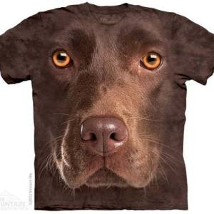 Chocolate Lab Face Adult T-Shirt