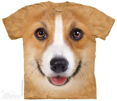 Corgi Face Adult T-Shirt