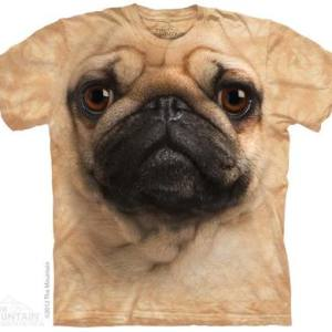 Pug Face Adult T-Shirt