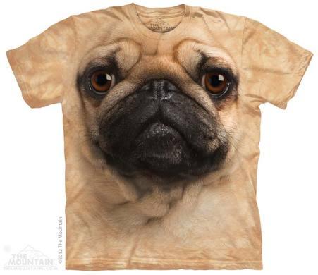 Pug Face Adult T-Shirt