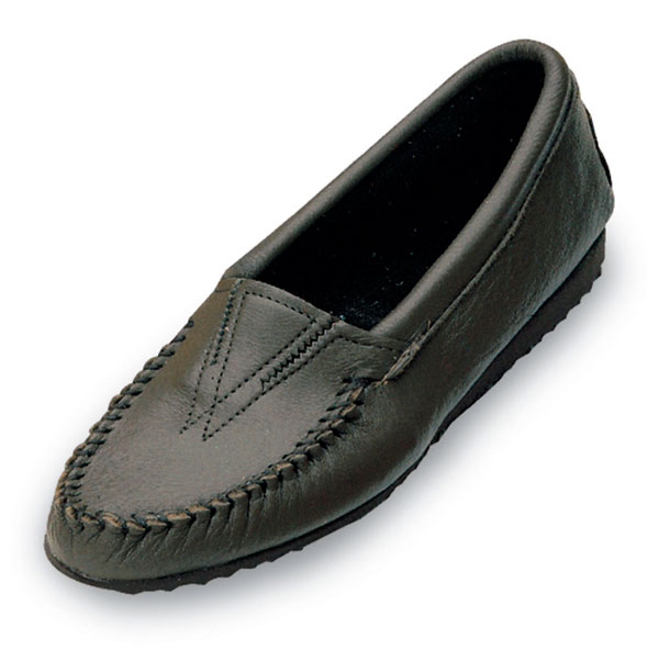 Minnetonka Mocassins for Women. Black Deerskin
