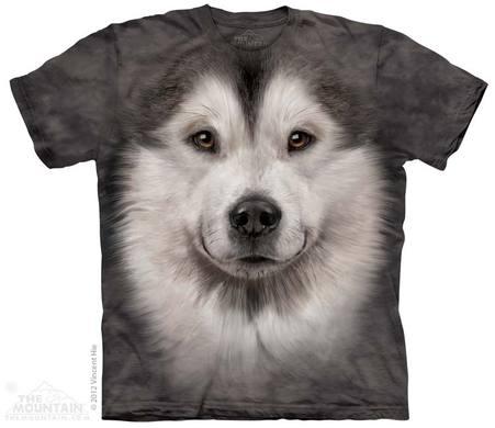 Alaskan Malamute Face Adult T-Shirt