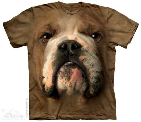 Bulldog Face Adult T-Shirt