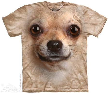 Chihuahua Face Adult T-Shirt
