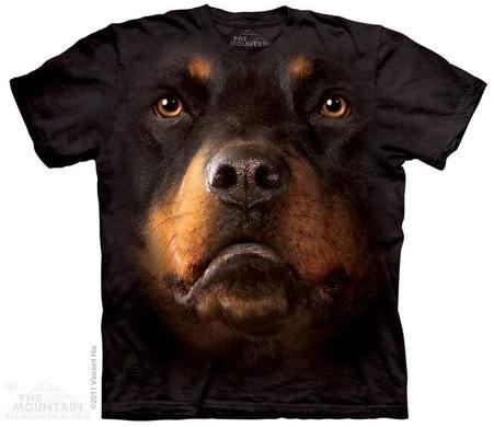 Rottweiler Face Adult T-Shirt