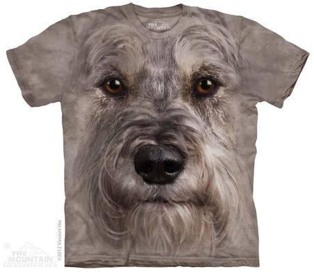 Schnauzer Face Adult T-Shirt