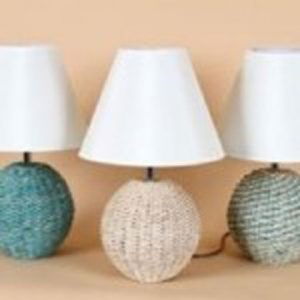 Seagrass Ball Lamp